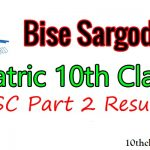 10th Class Result 2021 Sargodha Board